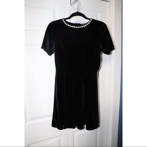 Black Velvet Formal Mini Dress